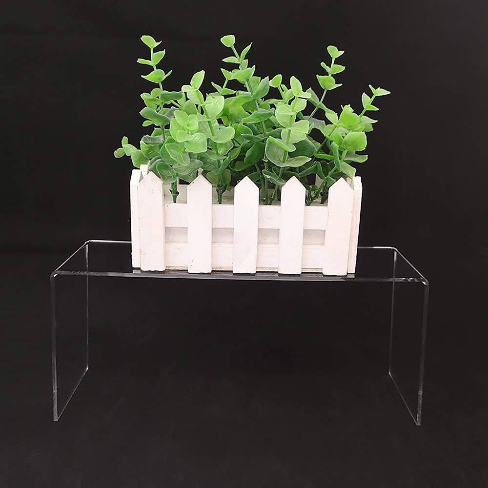Montages d/Étalage Pr/ésentoir pour Bijoux 3 Tailles Diff/érentes Dessert Figurines DEDC Risers dAffichage en Acrylique Transparent
