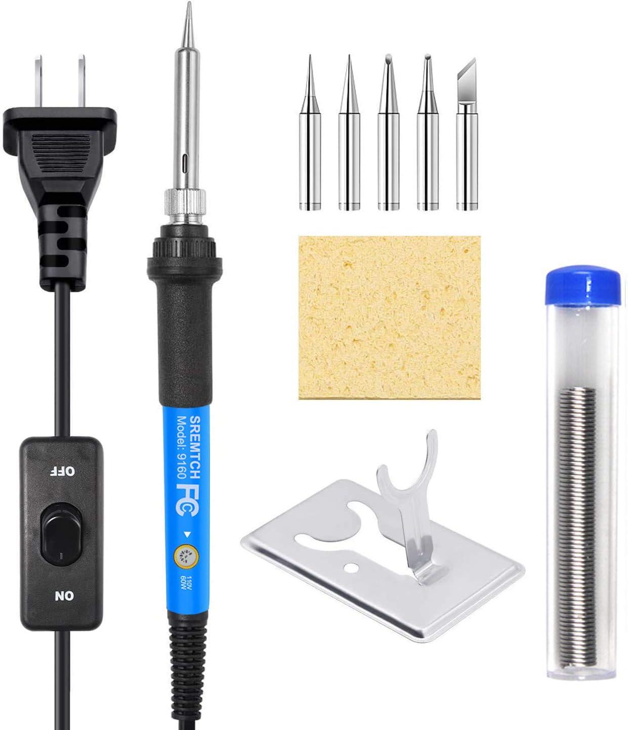 Soldering Iron Gun Kit Electrical Wire Tip Tool Set Solder Station 60W 110V 19Pc