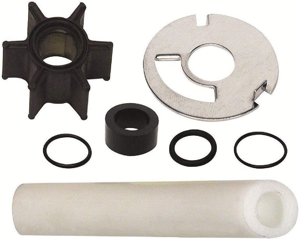 "GLM Water Pump Impeller Kit for Mercury 4, 4.5, 6, 7.5, 9.8 hp with .456"" Inside Diameter Impeller, Replaces 47-89981, Read Item Description for Exact Applications Before Ordering"