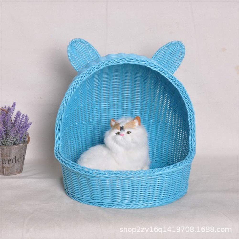 Blue Sboi x Rattan  uso, S, Pink Pet Dog Animali Nest Cosy Soft Resistente Resistente Per l'Indoor *Outdoor Use Easy To Clean