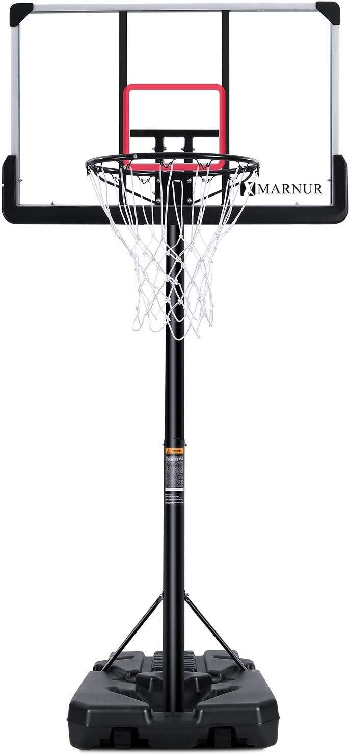 Suitable for Childrens Youth Adult Families,Black Portable Basketball System with Wheels Outdoor Indoor Basketball Stand Basketball Stand