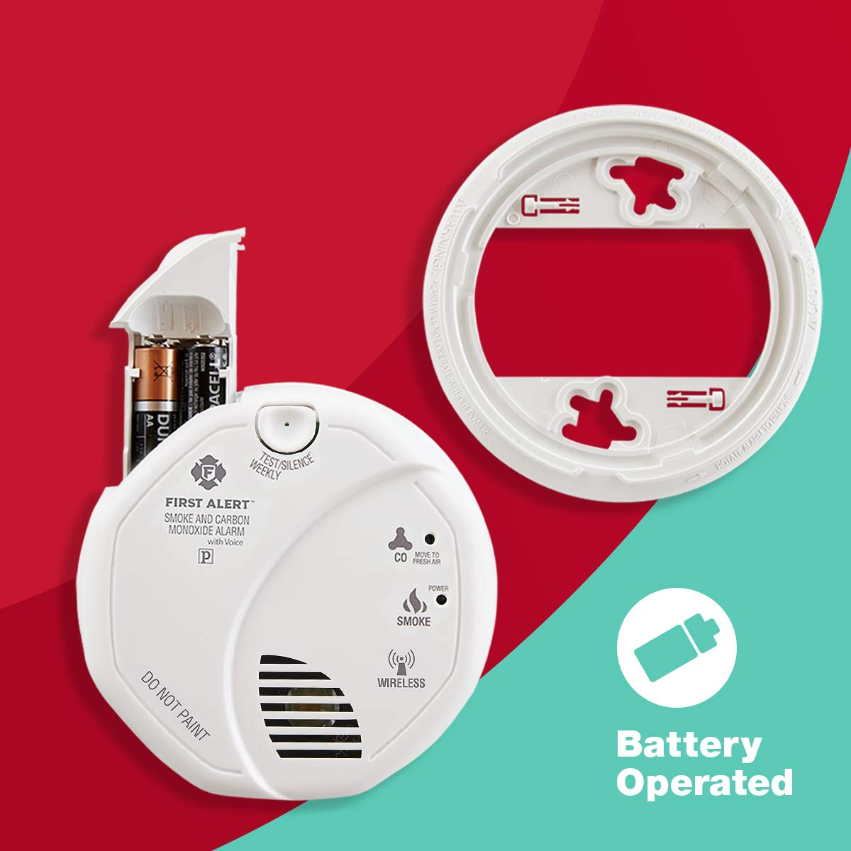 First Alert sco501cn-3st combinación de Humo y monóxido de Carbono Alarma con Voz ubicación, Funciona con Pilas: Amazon.es: Bricolaje y herramientas