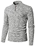 Best H2H Mens Tshirts - H2H Men's Casual Slim Fit Short Sleeve Henley Review