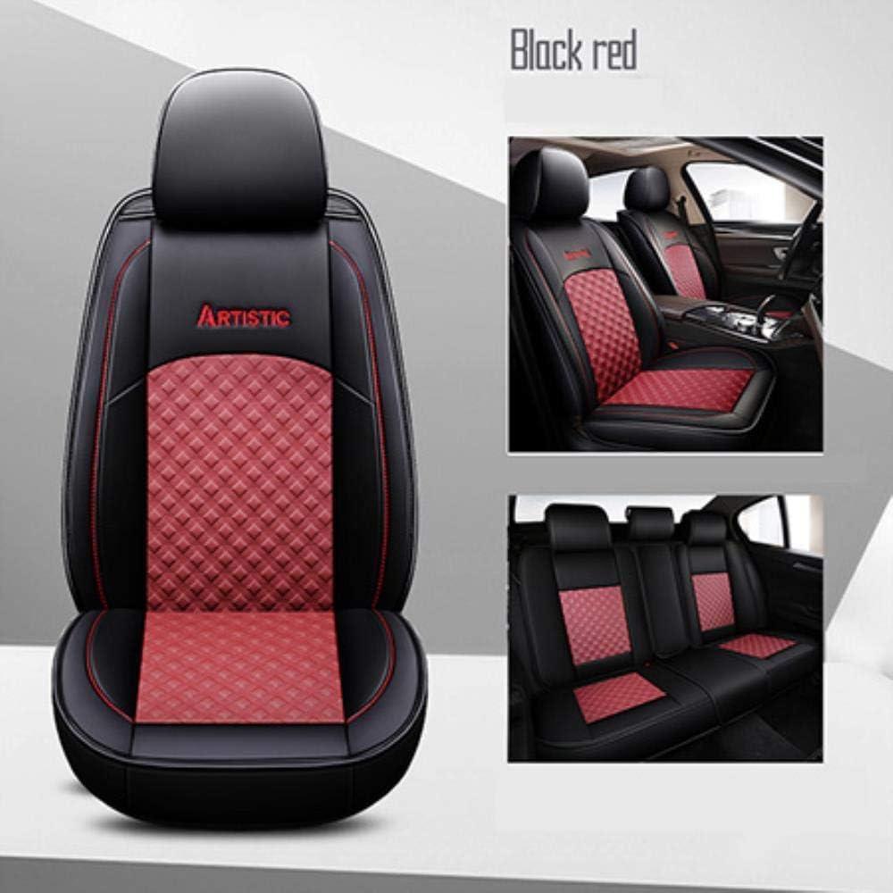 QIONGS Universal Car Seat Cover,Leather car seat covers For BMW 1 Series E81 E82 E87 E88 F20 F21 F52 F40 2 Series F22 F23 F44 F45 F46 car seats,Black