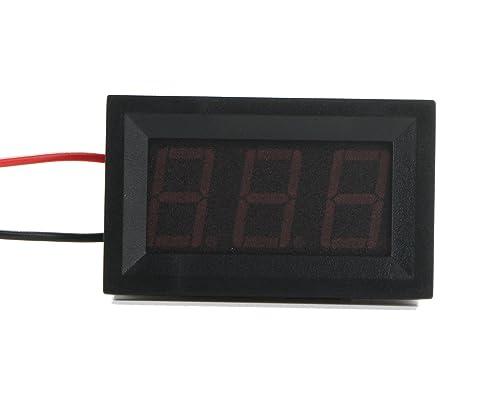 New 2 Wire Blue DC 4.5-30V LED Panel Digital Display Voltage Meter Voltmeter