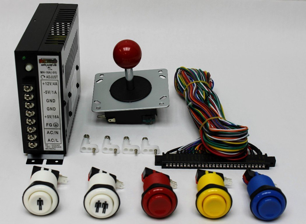 RetroArcade.us ra-60-in-1-kit Jamma 60-in-1, mame, Retro pi Classic Arcade multigame-multicade Arcade Game Control kit