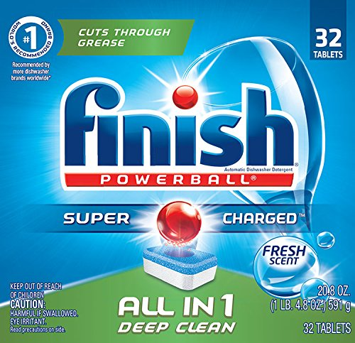 Price comparison product image Finish All in 1 Powerball Fresh 32 Tabs Automatic Dishwasher Detergent Tablets