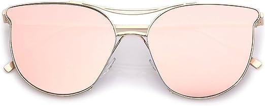 Oversized XL Large Cat Eye MY WAY Glossy Mirror Lens Fashion Big Sunglasses ITS