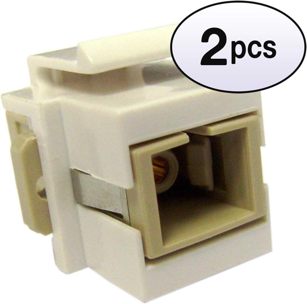 5 Pack GOWOS Cat.6 Inline Coupler w//Keystone Latch Green