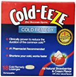 Cold-Eeze Cold Remedy Lozenges, Strawberries & Cream, 18 Count