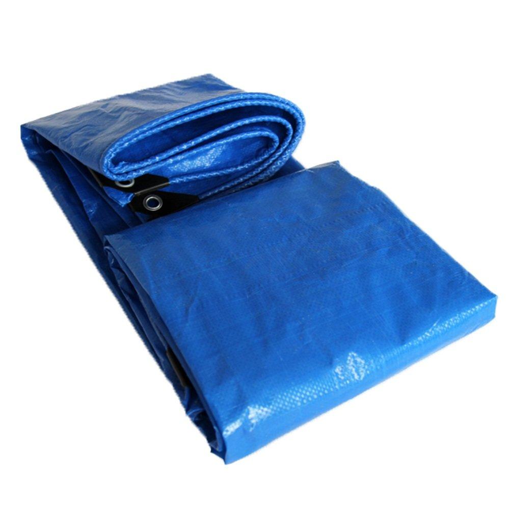 MDBLYJWinddichtes und kaltes Tuch Sonnenschutztuc Wasserdichte Plane der Plane der Plane Matte schützendes Schuppentuch des Teppichs abnutzungsBesteändige hohe Temperatur Anti-Altern, blau