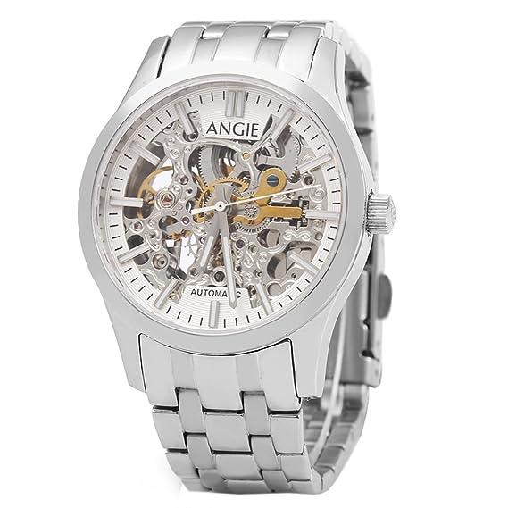 Leopardo tienda Angie st7183l frederis serie mujeres reloj de pulsera automático viento reloj mecánico Hollow Dial luminoso 5 ATM deporte # 4: Amazon.es: ...
