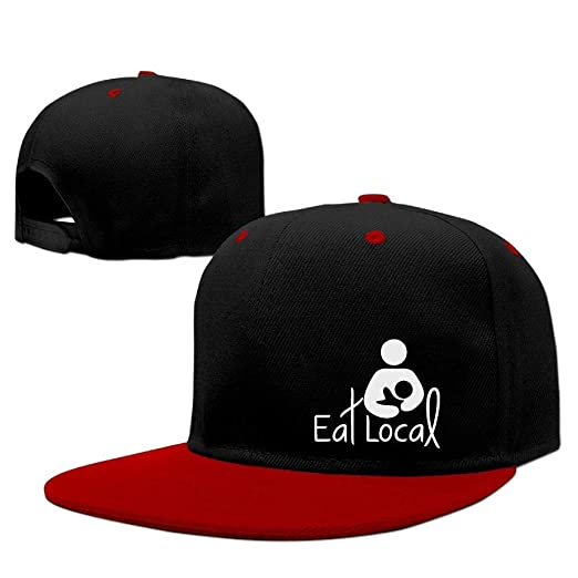 f38b9d1657c Unisex Men and Women Eat Local Adjustable Hit Color Hip-Hop Hat Baseball Cap  at Amazon Men s Clothing store