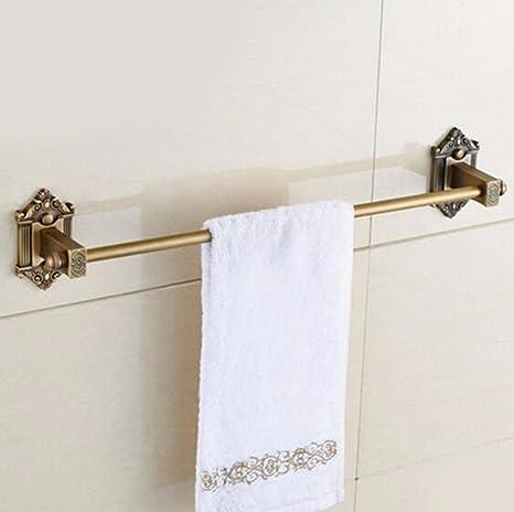 Sursy Jardín de estilo europeo puro cobre antiguo retro toalla toallero barra Barra de toalla de
