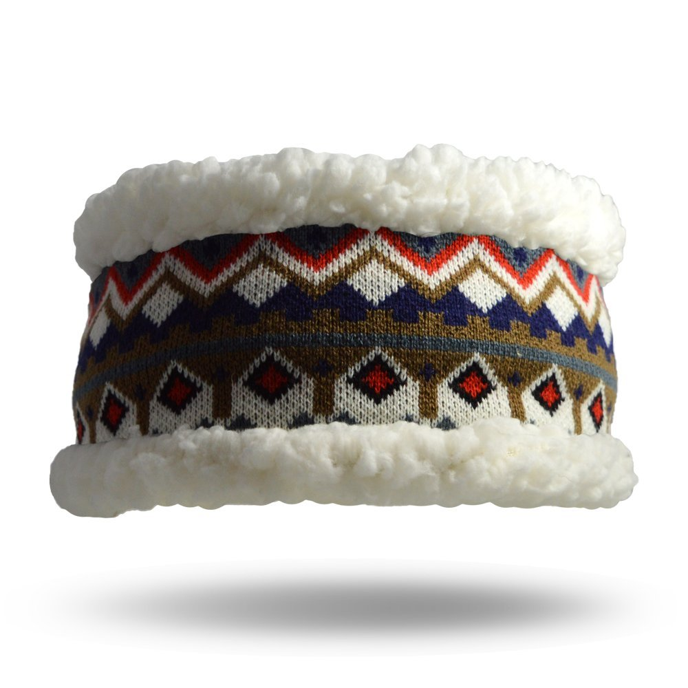 Pudus nordic white adult one size cozy winter headband by Pudus