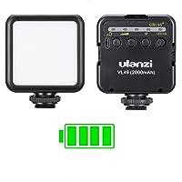 ULANZI VL49 2000mAh LED Video Light w 3 Cold Shoe Mounts Type C Charging Soft Light Panel for DJI OSMO Mobile 3 Pocket…