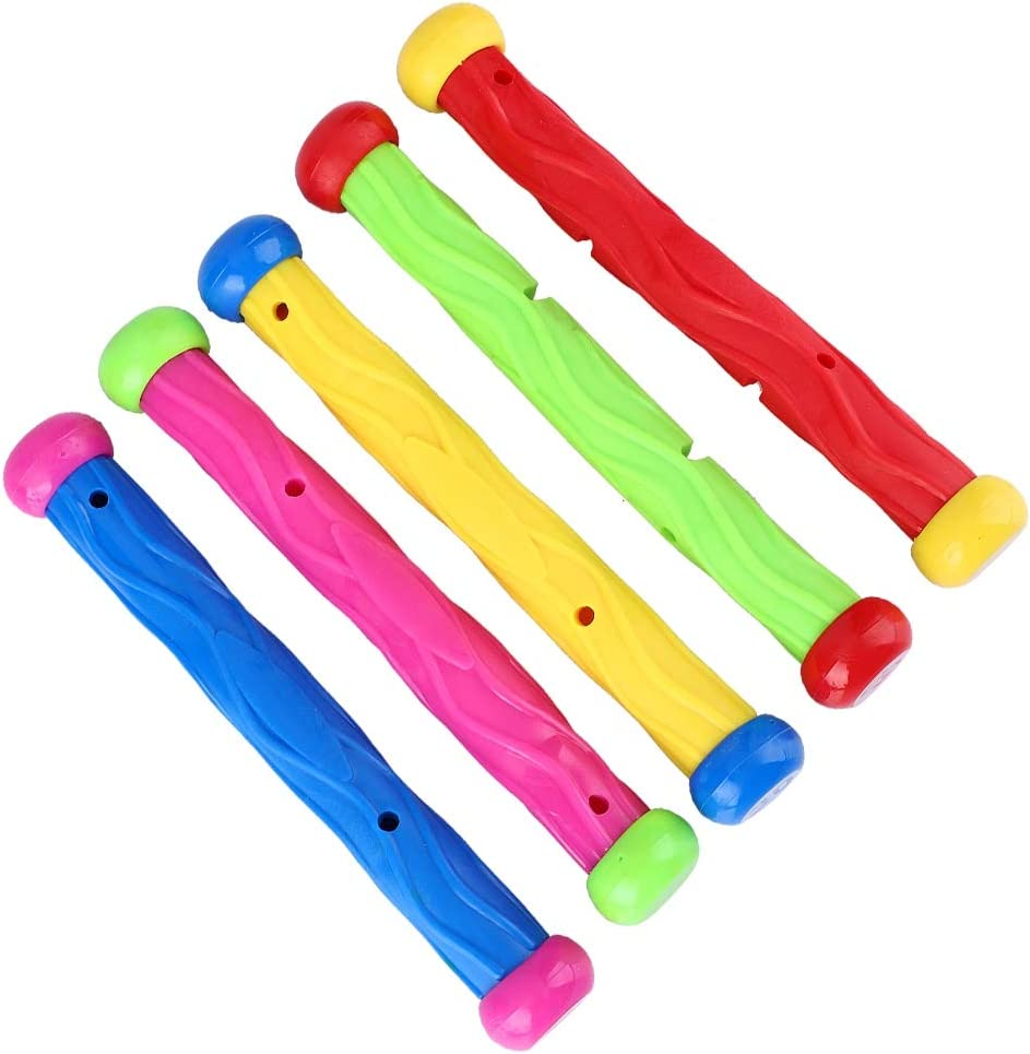 Alomejor 5pcs Diving Pool Toys Children Pool Diving Training Toy Underwater Swimming Fun Diving Stick Toys for Kids Boys Grils