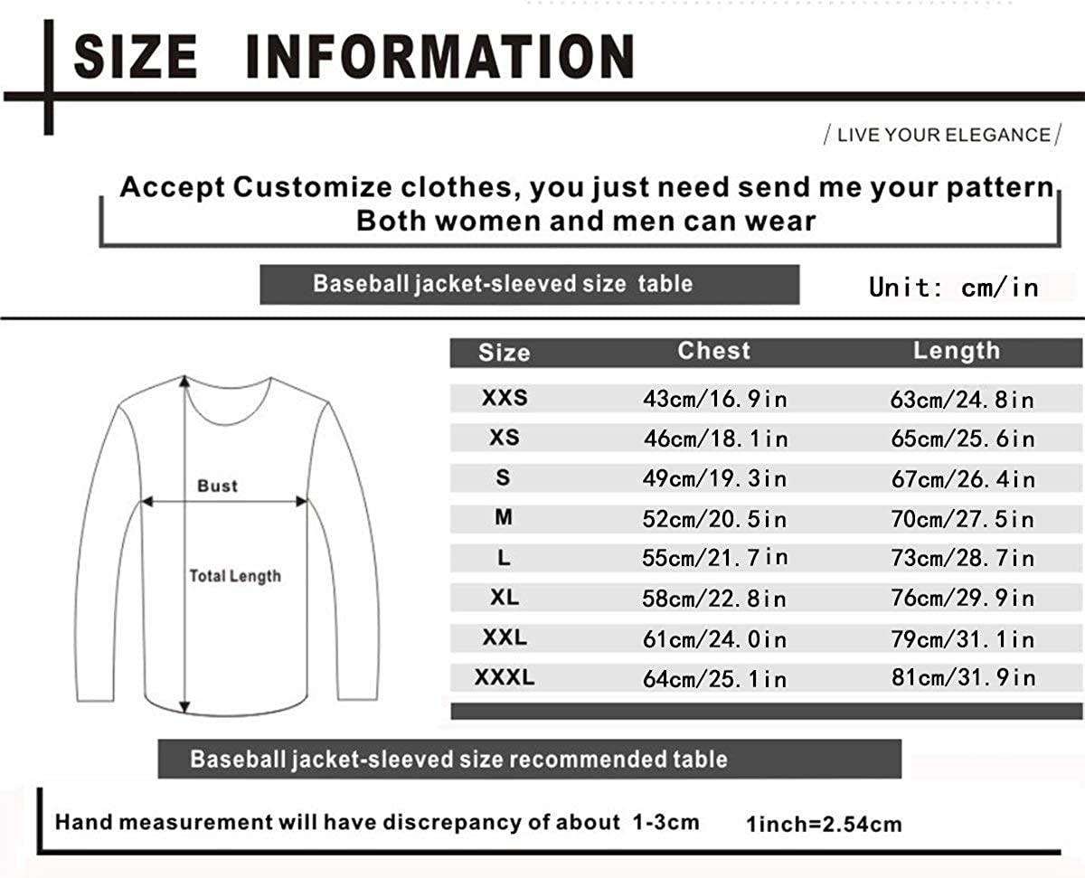 Henshengl125 Unisex My Chemical Romance Fashion Baseball Uniform Jacket Sports Jacket