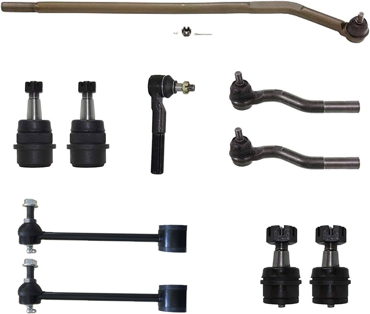 2015-2018 Ford Edge 8PC Front and Rear Stabilizer Sway Bars Links and Inner Outer Tie Rod Ends for 2013 2014 2015 2016 2017 2018 Ford Fusion Detroit Axle