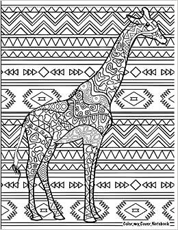 Amazon.com: Color My Cover Notebook (Giraffe): Therapeutic ...