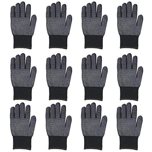 (Gelante Unisex Magic Stretch Gripper Glove Gripper Glove (12 Pairs/Black))