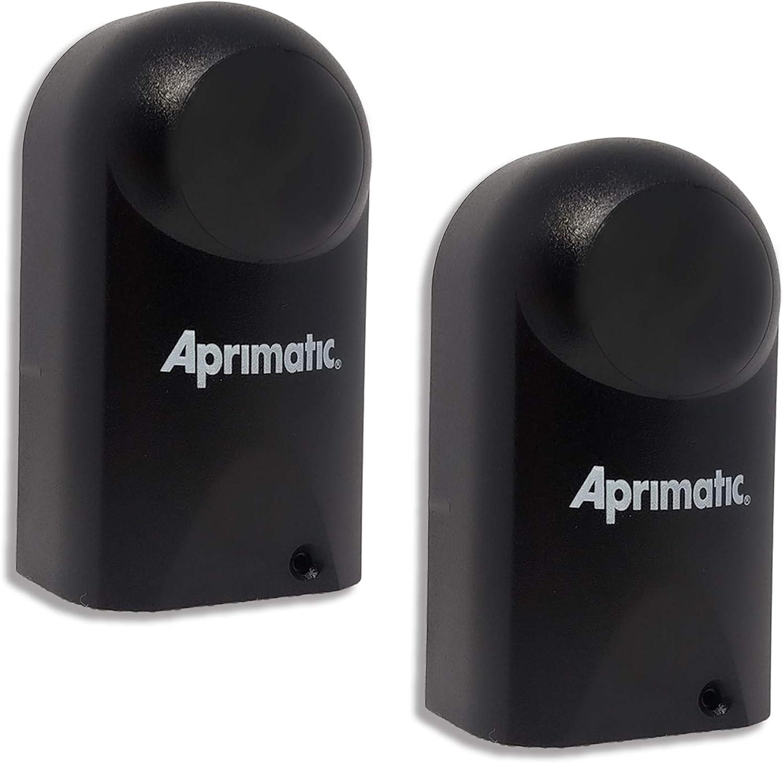 APRIMATIC ER48 – Par de fotocélulas universales – Infrarrojos – DC 12 – 24 V – Para exterior – Aplicación en pared – Compatible con cualquier sistema de automatización de puerta – Negro