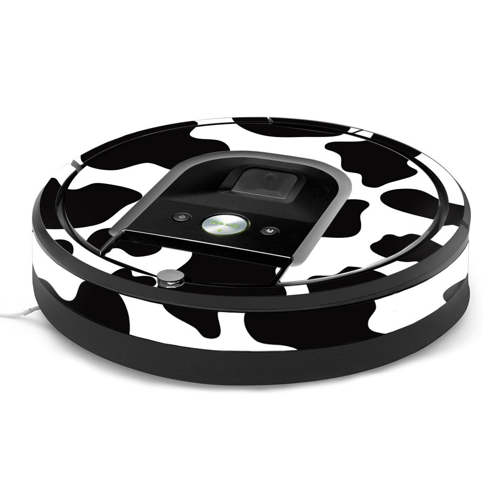 MightySkins Skin for iRobot Roomba 960 Robot Vacuum - Cow Print | Protective, Durable, and Unique Vinyl Decal wrap Cover | Easy to Apply, Remove, and Change Styles | Made in The USA