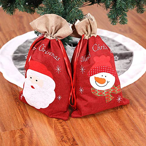 Christmas Stockings Mini Gift Cards Bag Totes Santa Claus Holiday Home Party Decorating for Kids (B) by Paymenow (Image #2)