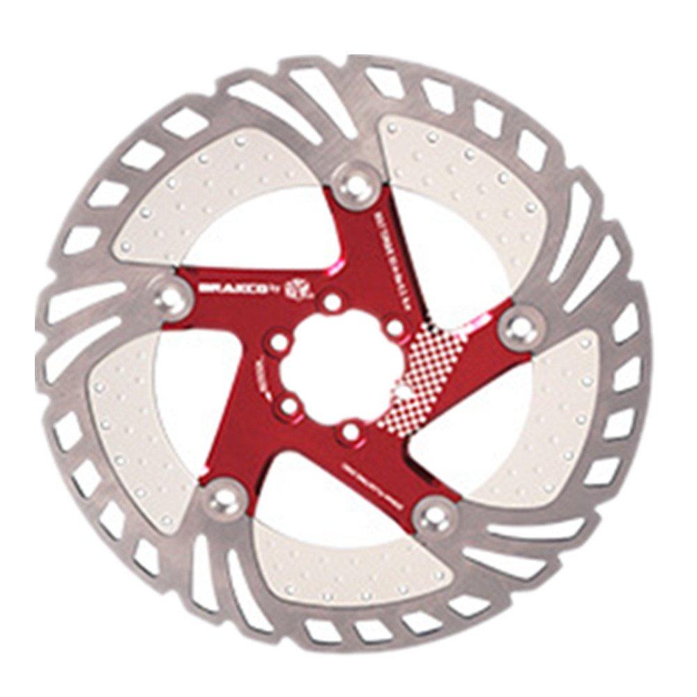 Bikyle フローティングディスクブレーキローター6ボルトアルミ合金バイクディスクブレーキローター用ほとんどの自転車ロードバイクマウンテンバイクBMX MTB 160ミリメートル180ミリメートル203ミリメートルブレーキ (色 : 赤, サイズ : 203mm)   B07PY2YY7Z