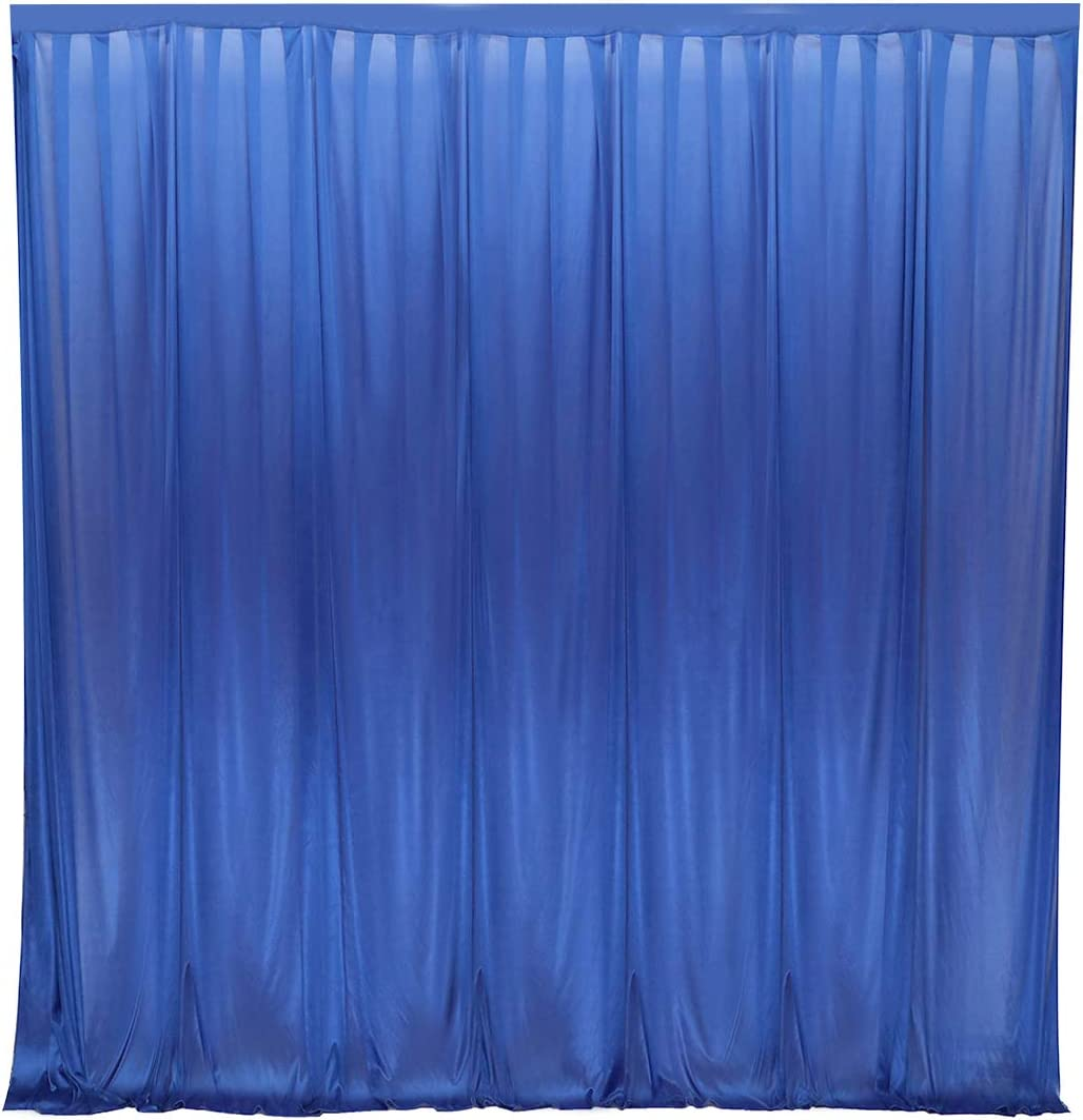 10 ft x 10 ft Photography Backdrop Drapes Curtains Wedding Backdrop, for Baby Shower Birthday Home Party Event Festival Restaurant Reception Window Decor Polyester Royal Blue