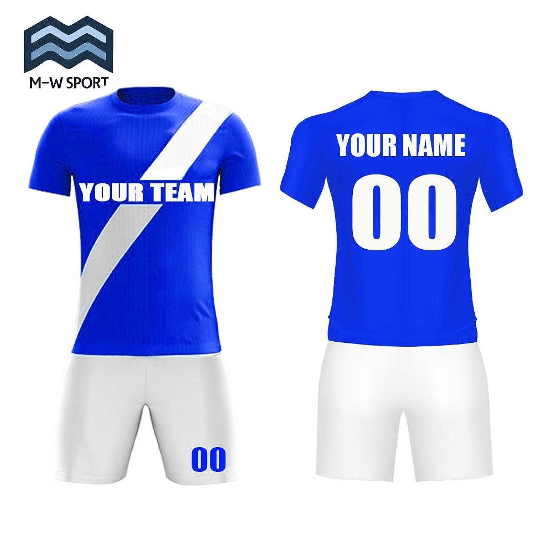 M-W Sports SHIRT メンズ B07BF9RY7Vブルー X-Large