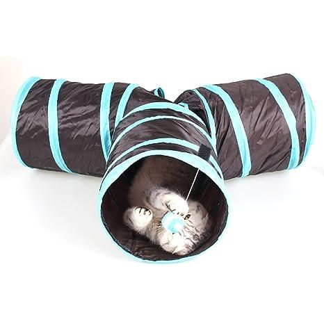 TopTops® Mascota Gato túnel tiendas de campaña juguetes/plegable Cat Play tubos túnel 3