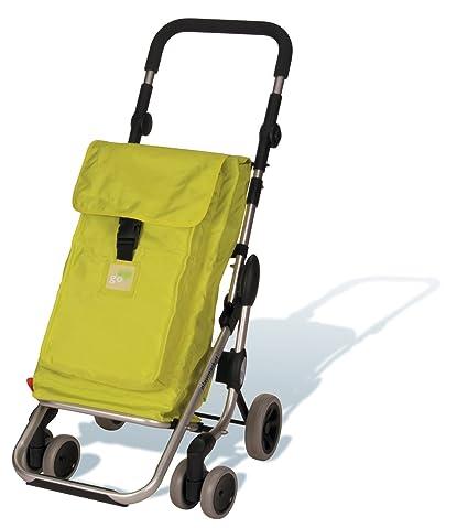 Play - Carro Compra Play Go Up Citron, 23910218,40X48X110, 39,5L+Bolsa Térmica 6L, 5Kg, Lavable, Plegado Sencillo Compacto, Plegado De Ruedas, ...