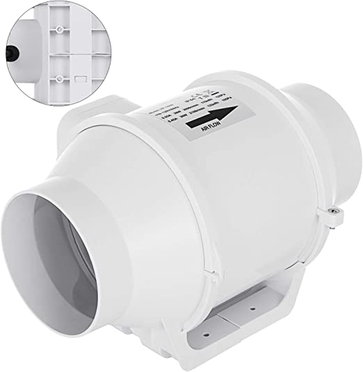 4/'/' 6/'/' 8/'/' Flow Inline Duct Exhaust Ventilation Vent Blower ABS Extractor Fan