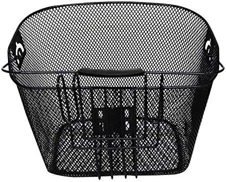 Cesta multiusos para bicicleta Cesta de liberación rápida diseñada para la parte delantera de la bicicleta / malla de bicicleta con soporte de metal Canasta de bicicleta de liberación rápida: Amazon.es: Deportes