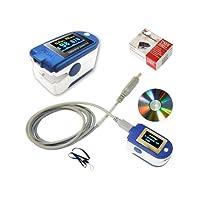 BLYL CMS 50D+ OLED Ossimetro e pulsometro USB da dita, con memoria da 24h, laccio, cavo USB, software di analisi completa