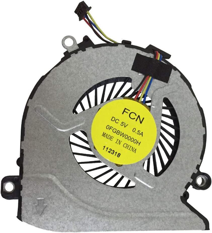 PYDDIN New Laptop CPU Cooling Fan Cooler Replacement Fan for HP 15-AB 15T-AB200 15-AB121DX 15-AB093TX 17-G 17-G100 17-G179NB Series P/N: 812109-001 812111-001 816119-001 TPN-Q159 TPN-Q158