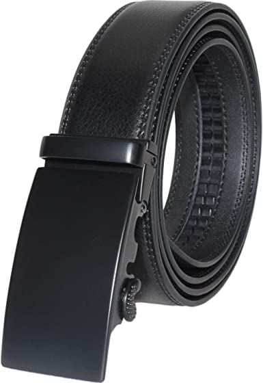 """Mens Genuine Leather Belt with Smooth Grain and Ratchet Buckle 35mm 1.25/"""""""