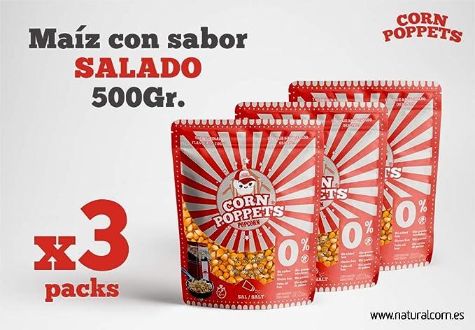 Maíz con sabor para palomitas Corn Poppets Bag pack de tres unidades