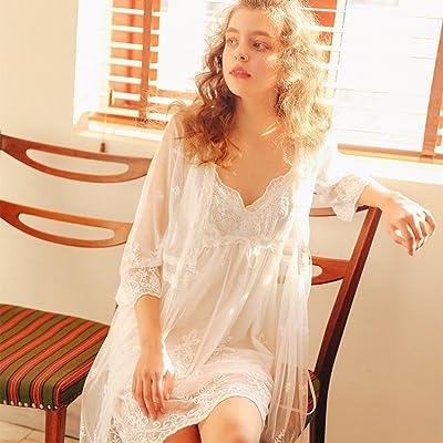 AN Pyjamas robe de tulle féminine jupe dentelle tentation deux ensembles de court sangles de nuit chemise de nuit femme