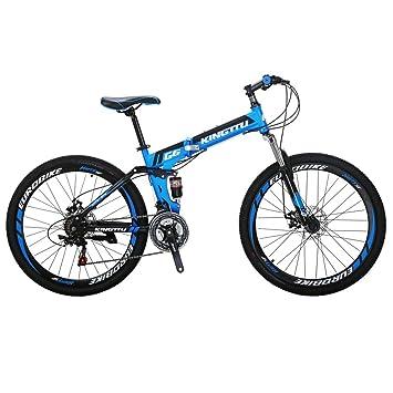Amazon.com: Kingttu KTG6 - Bicicleta de montaña plegable (21 ...