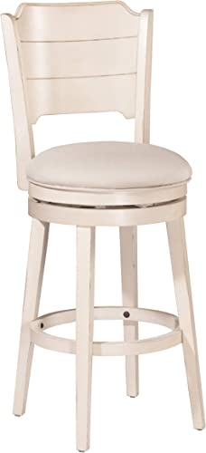 Hillsdale Furniture Clarion Swivel Bar Height Stool, Sea White