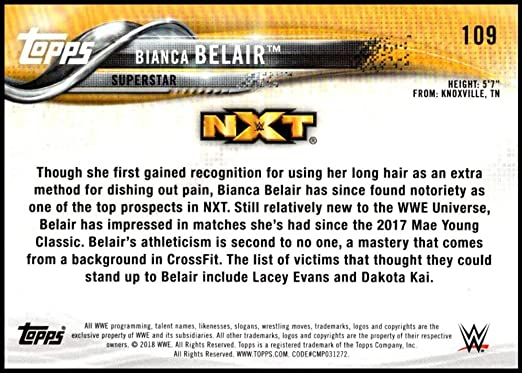 2018 Topps WWE Then Now Forever Wrestling #109 Bianca Belair Official World Wrestling Entertainment Trading Card