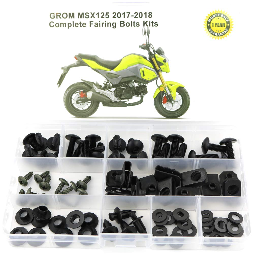 titanium for HONDA GROM MSX125 2017 2018 Mounting Kits Washers//Nuts//Fastenings//Clips//Grommets Xitomer Full Sets Fairing Bolts Kits