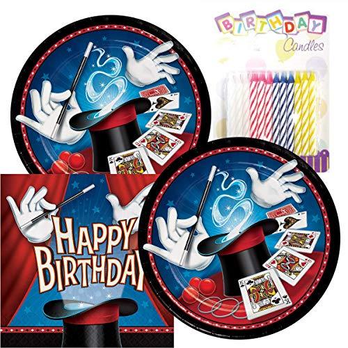 (Magic Party Birthday Theme Plates and Napkins Serves 16 With Birthday)