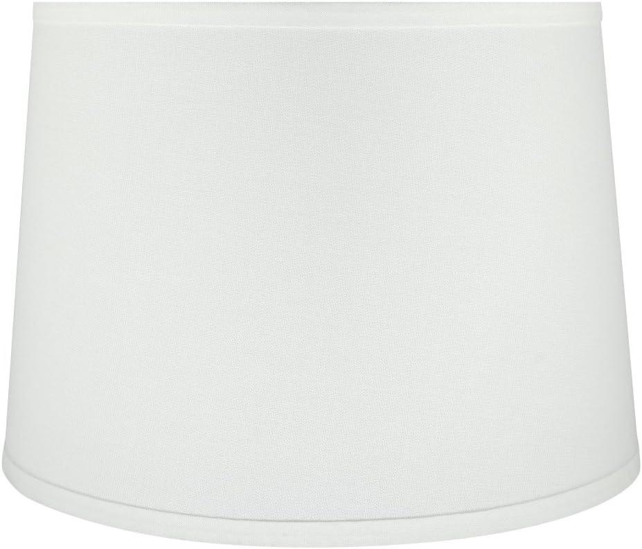 Aspen Creative 32317 14 Wide 12 x 14 x 10 Transitional Hardback Empire Shaped Spider Construction Lamp Shade, White