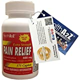 HealthA2Z Acetaminophen Extra Strength Pain Relief,175-count,Compare to Tylenol Extra Strength Active Ingredient, Acetaminophen 500mg