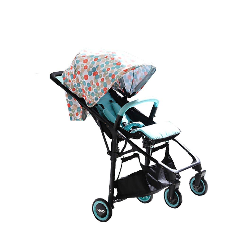 高風景のベイビーベビーカー超軽量折りたたみポータブル座席は赤ちゃんの幼児に横たわることができます簡単な傘の傘デイジーの傘   B07PQCNKH2