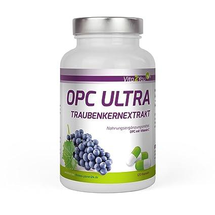 Vita2You OPC Ultra Extracto de semilla de uva 600mg por cápsula - con vitamina C de