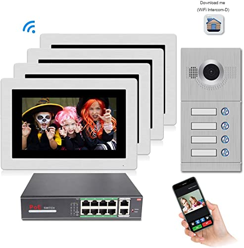 Jeatone 7Inch WiFi IP Video Door Phone Intercom System
